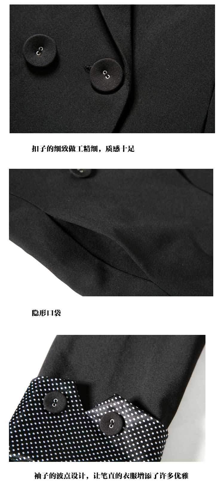 黑色女式职业装小西服细节图