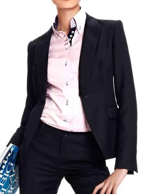 黑色女职业套装