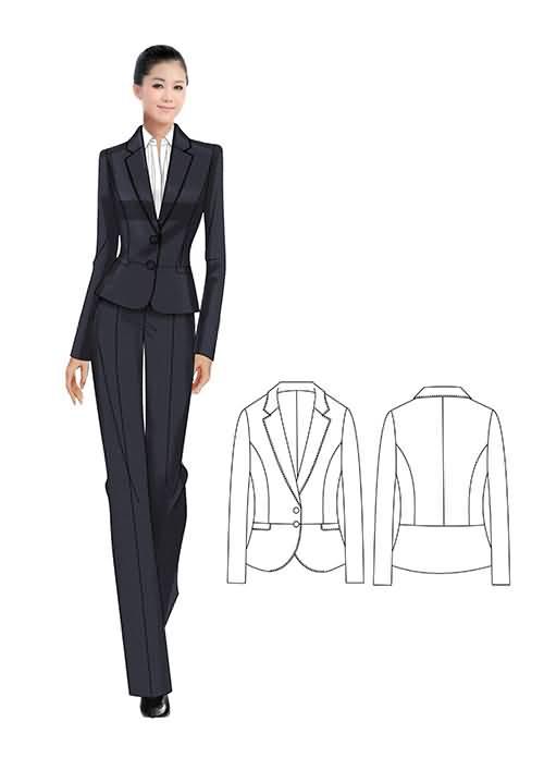 女性职业套装款式01