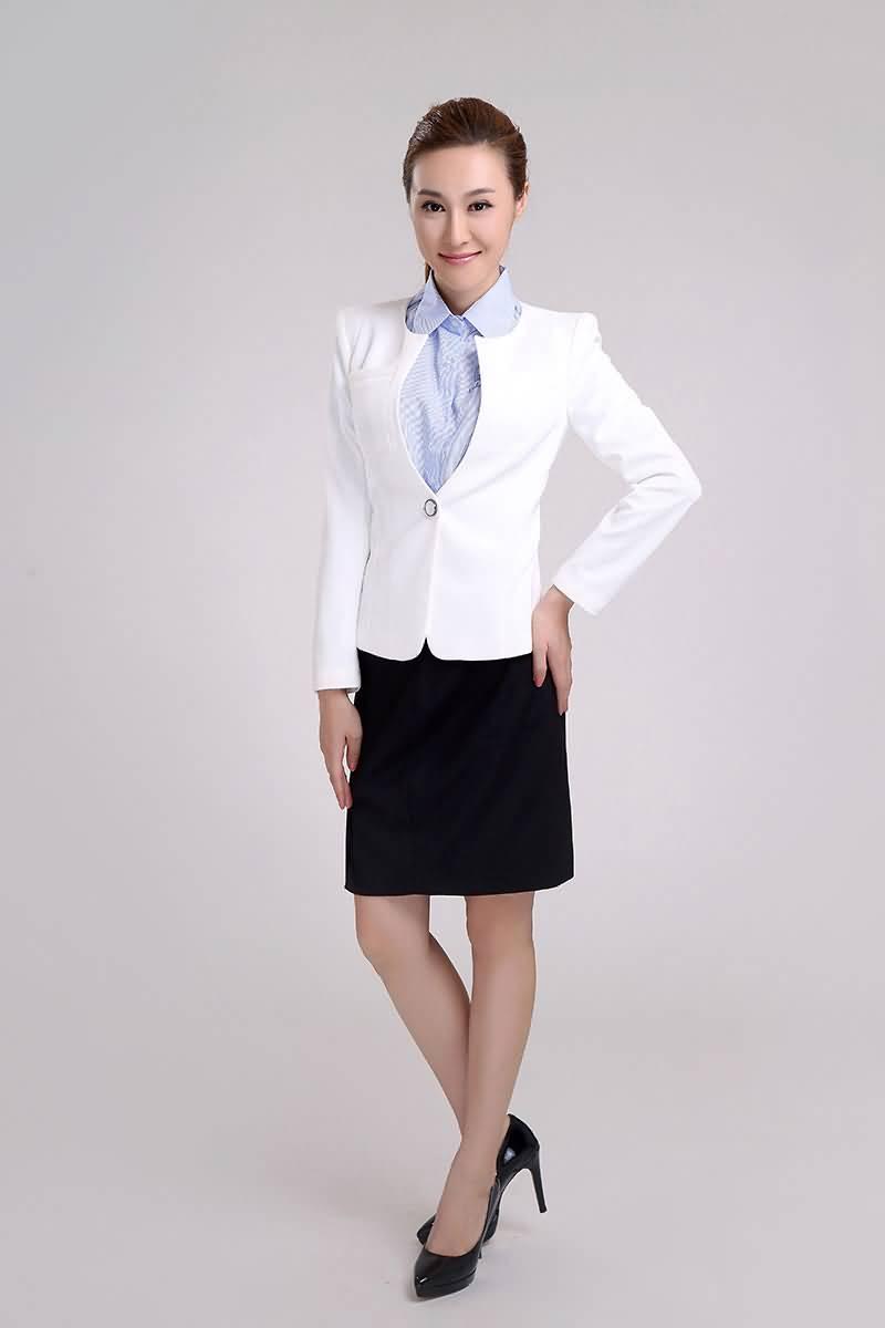 经典白色职业装夏装
