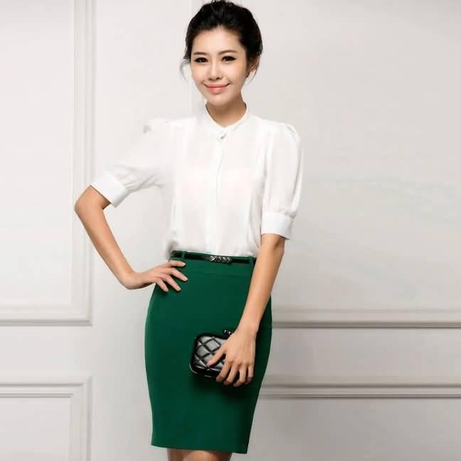 2015新女性夏季职业装时尚衬衫套裙ol白领必备
