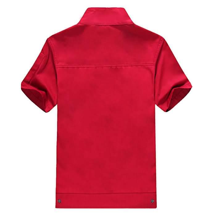 红色车间工作服背面图片
