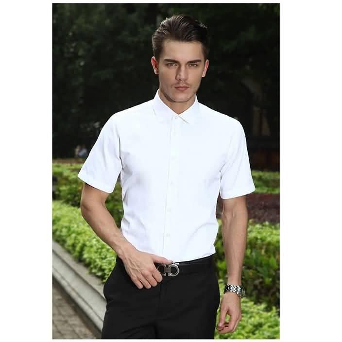 2015夏季短袖男士白衬衫