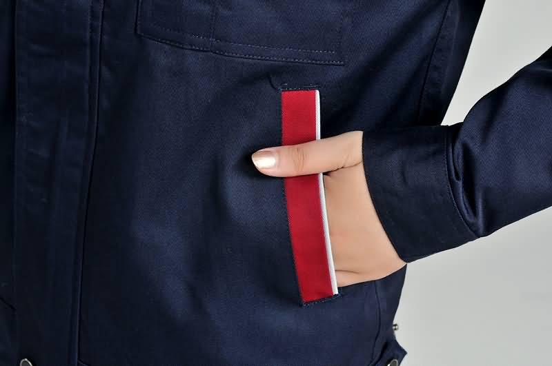 防酸工作服口袋细节
