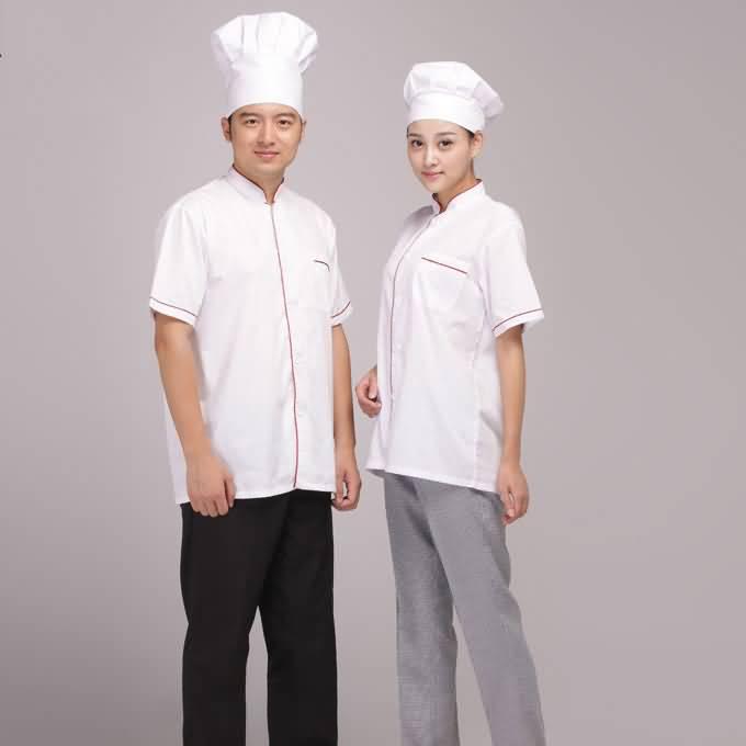 传统厨师服夏季工作服