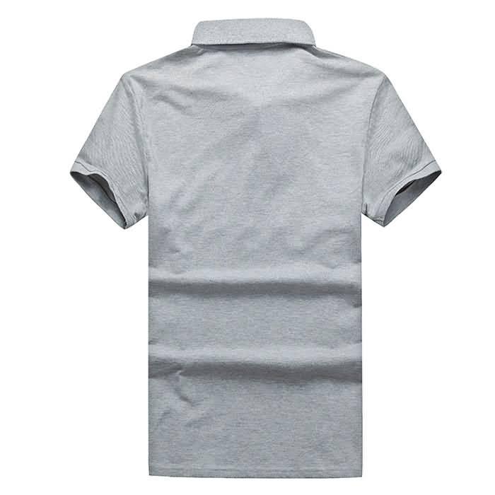 短袖polo衫拼色背面图片