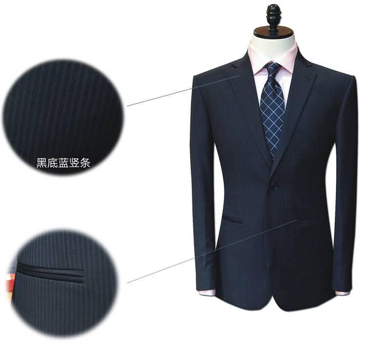 条纹西服男士职业装