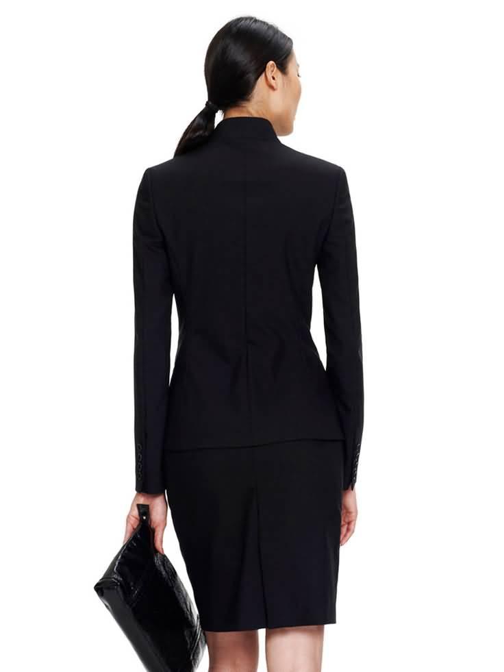 黑色职业装套裙