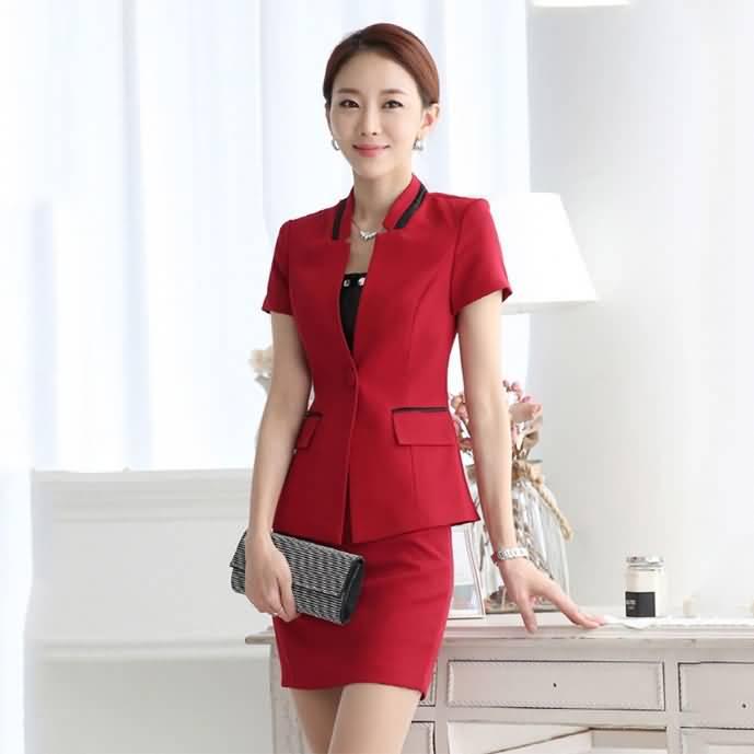 时尚典雅韩版女士夏季职业装套裙