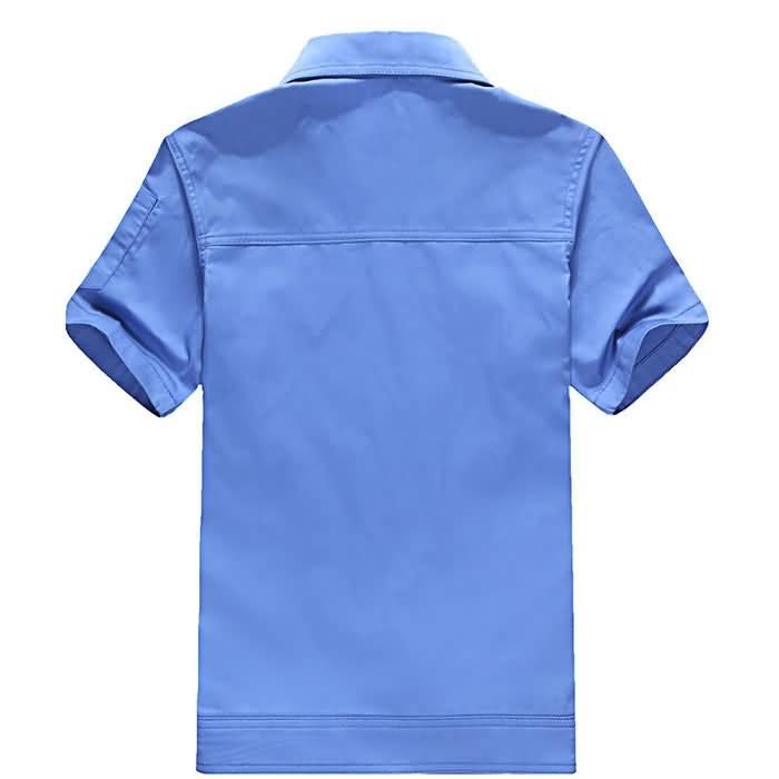 蓝色夏季工服背面图片