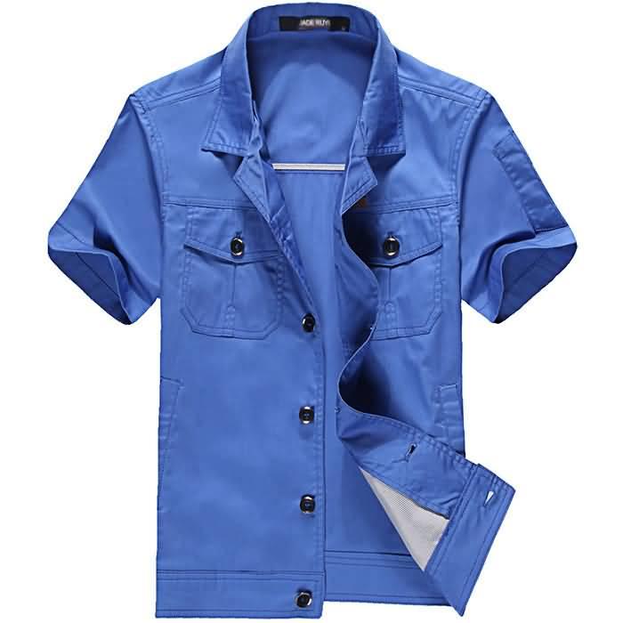蓝色夏季工服正面图片