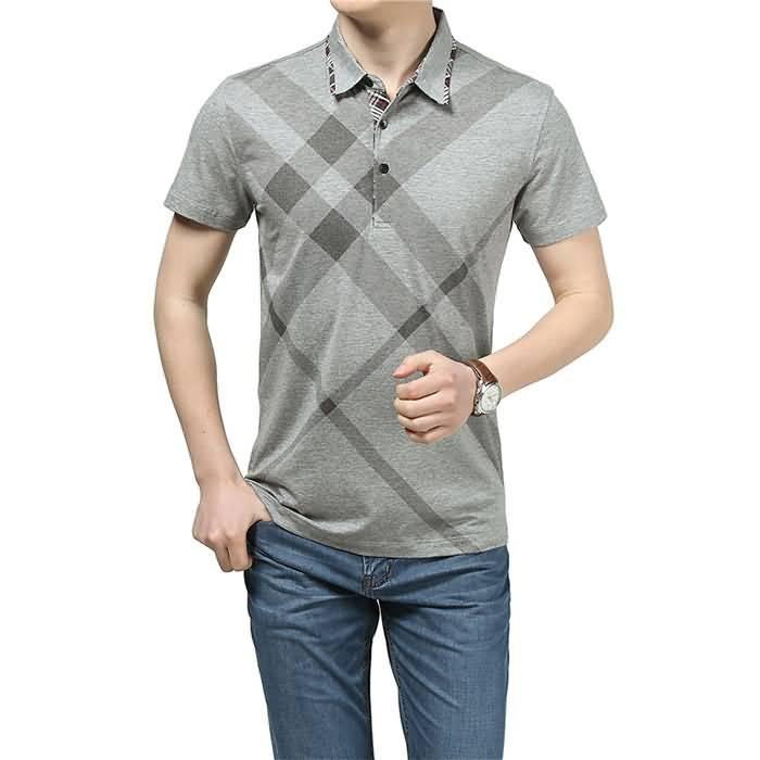 男士烟灰色T恤衬衫