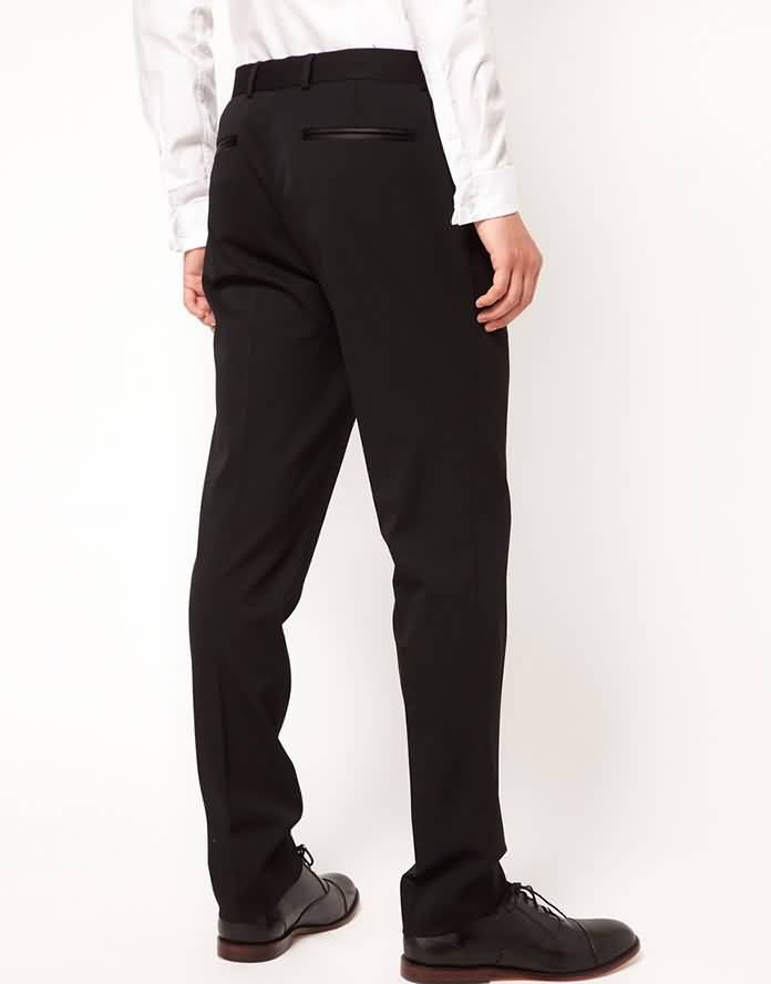 男士结婚礼服裤子背面图片