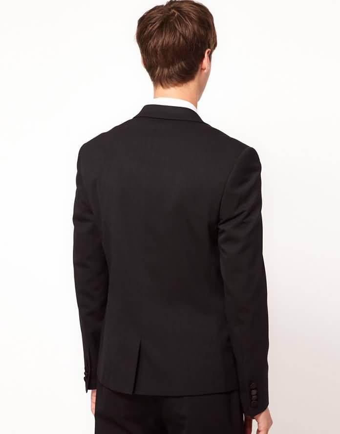 男士结婚礼服背面图片