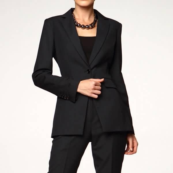 黑色职业装套装女装