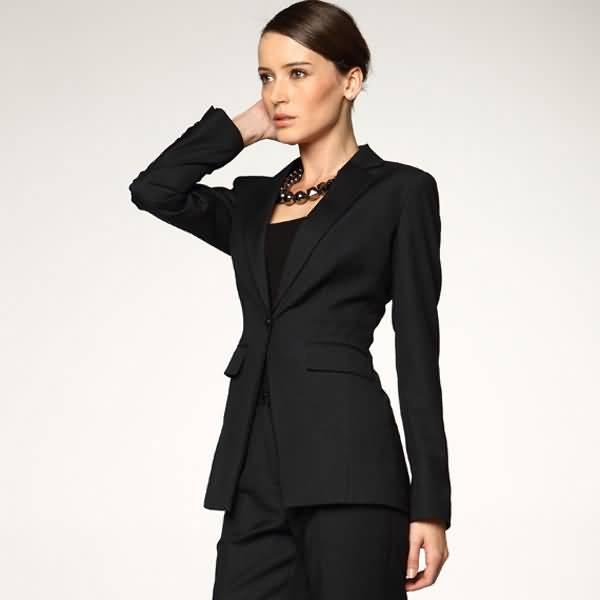 女士黑色条纹西服时尚职业装