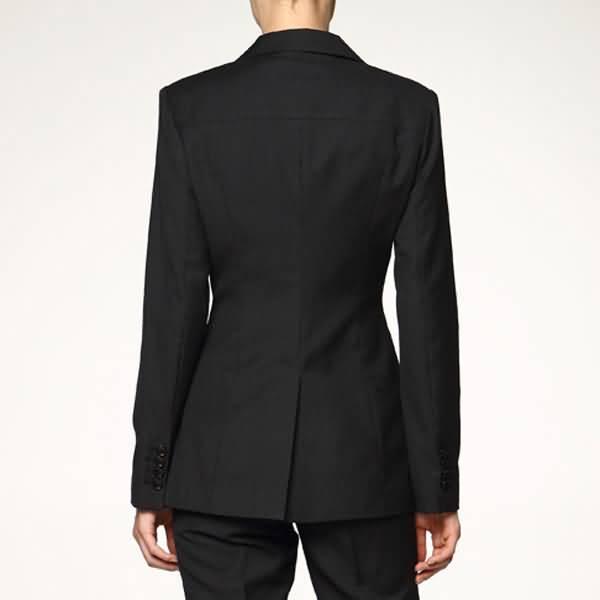 黑色职业装套装女单开叉