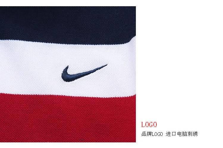 条纹POLO衫logo细节图片