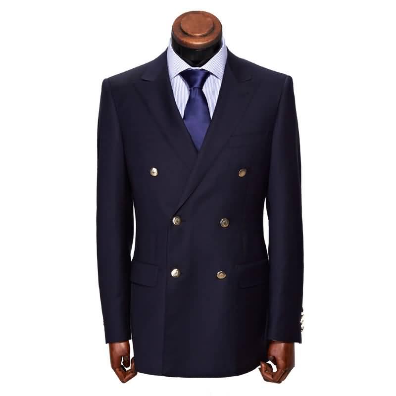 深蓝色运动西服套装男士职业装