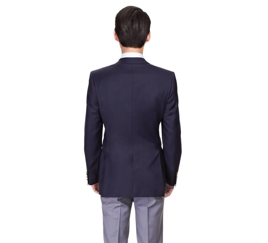 蓝色西服运动装男士