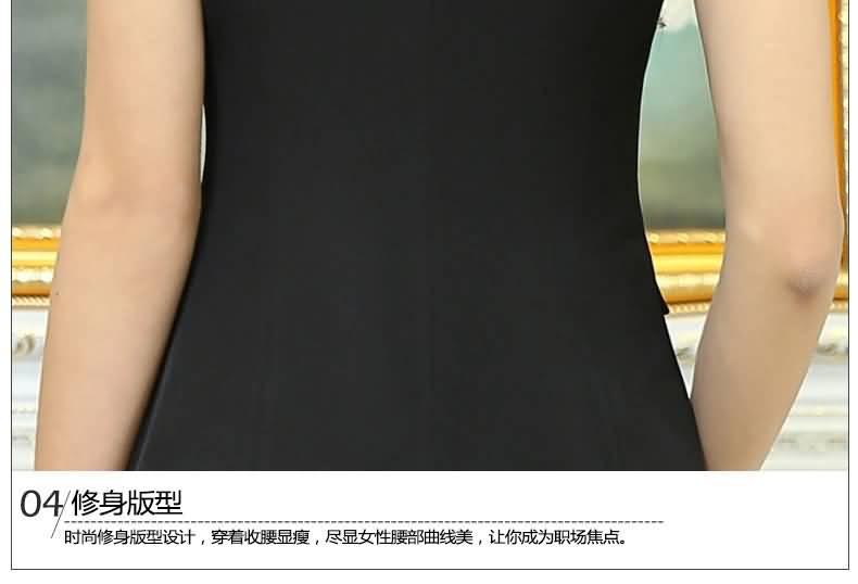 黑色套裙夏季职业装女装