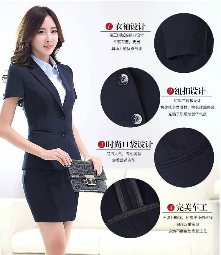 韩版夏季职业装套裙细节图片