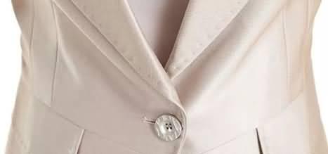 香槟色套裙纽扣细节图片