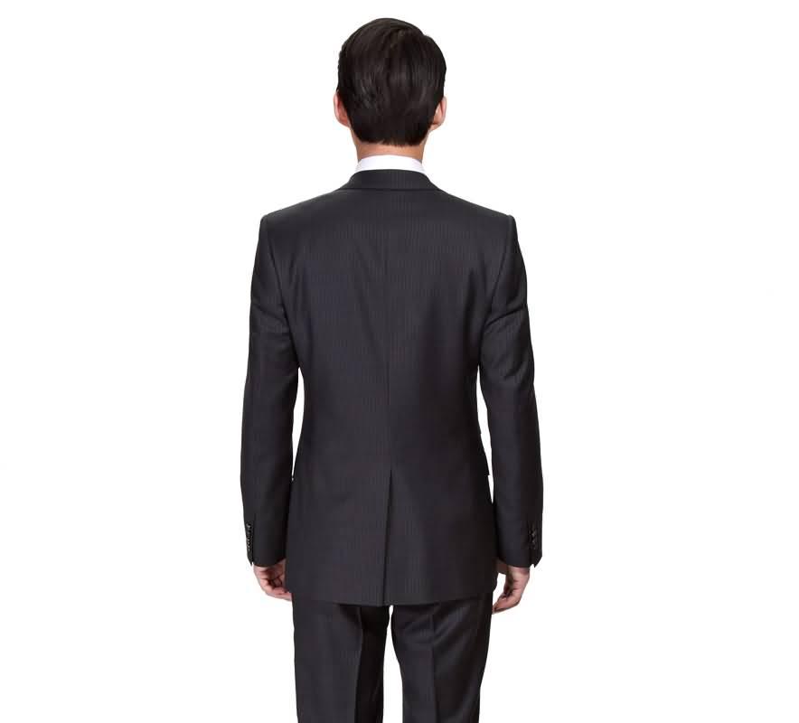 条纹西装男士三件套