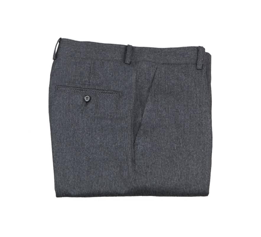 意大利灰色条纹西裤