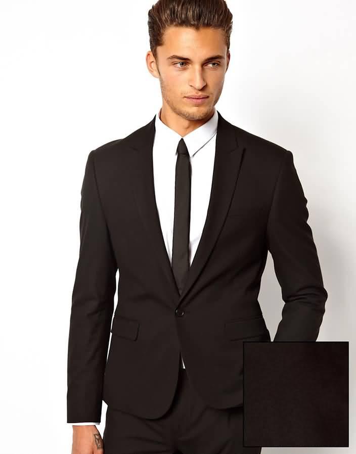 黑色西服套装商务西装上衣