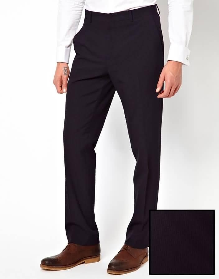 黑色西服套装商务西装下身西裤图片