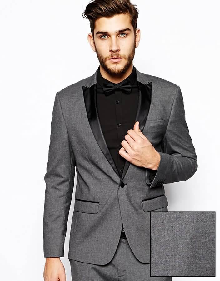 韩版灰色单粒扣男士西装套装职业装上衣