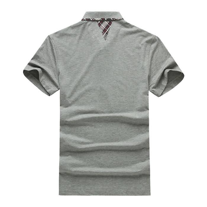 男士烟灰色T恤衬衫背面图片