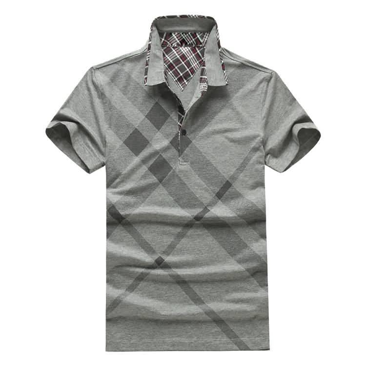 男士烟灰色T恤衬衫正面图片