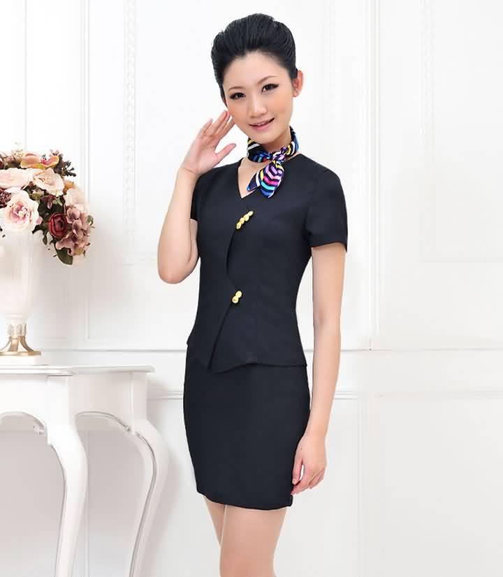 酒店工作服夏装女前台领班经理制服