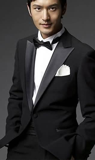 黄晓明同款男士礼服新郎结婚礼服