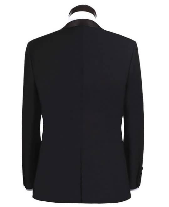 黄晓明同款男士礼服新郎结婚礼服修身西服上衣背面图片