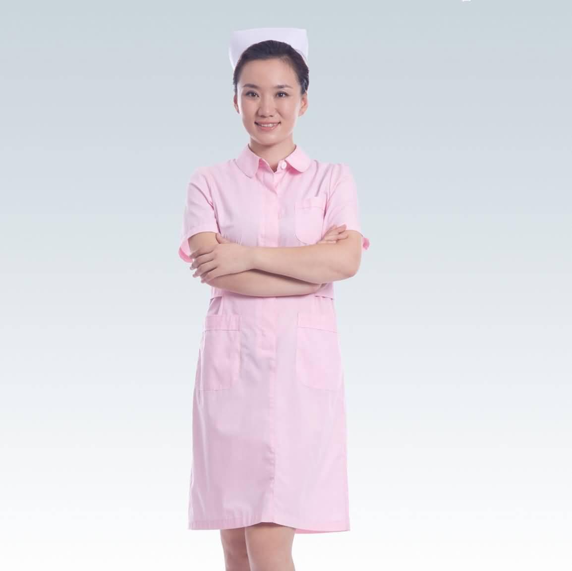 粉色护士服夏装短袖药店工作服