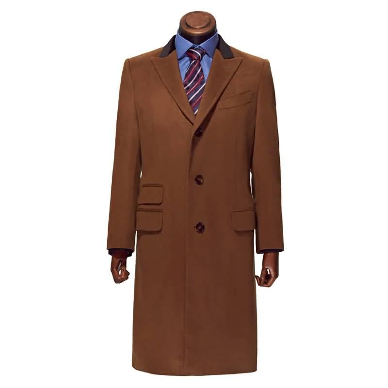 驼色进口羊绒切斯特男士大衣