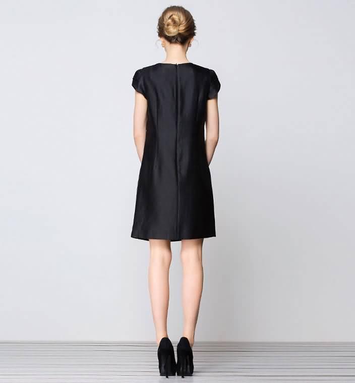 2015夏季时尚雅致连衣裙礼服背面图片