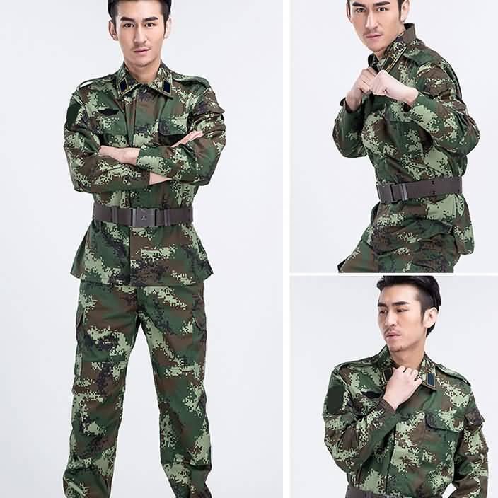 武警数码夏季迷彩作训服
