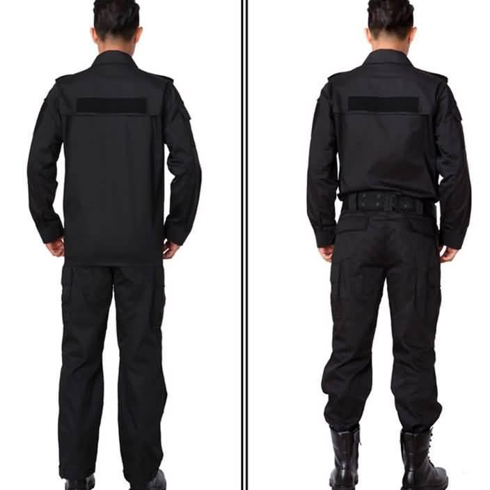 2015小区物业保安制服背面图片