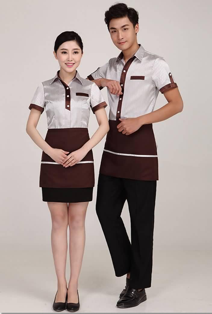 服务员工作服餐厅短袖夏季制服