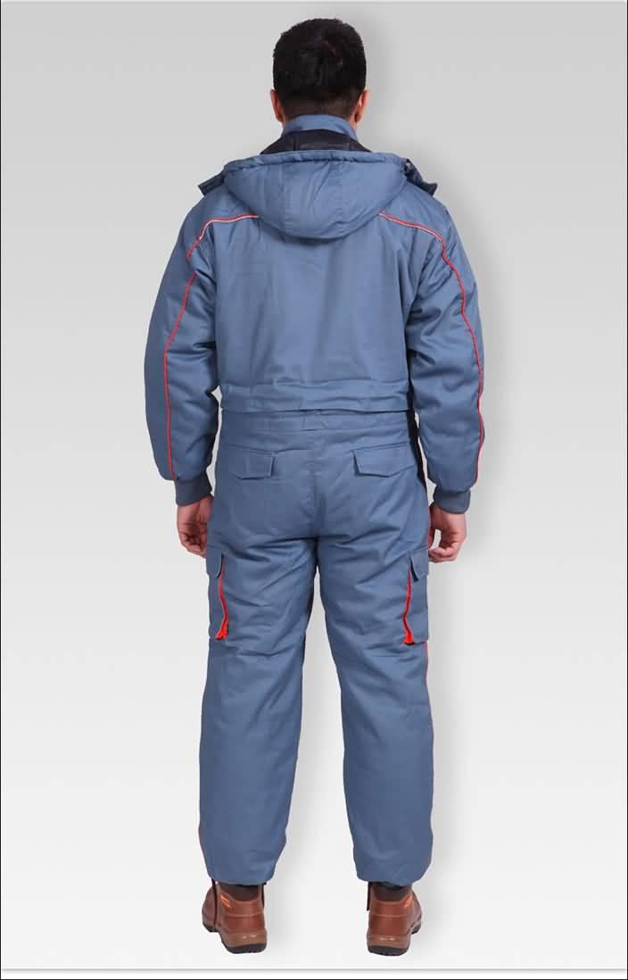 专供冷库防水棉衣连体工作服背面图片