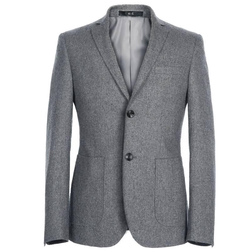 M-K高档羊毛经典两粒扣时尚绅士西服