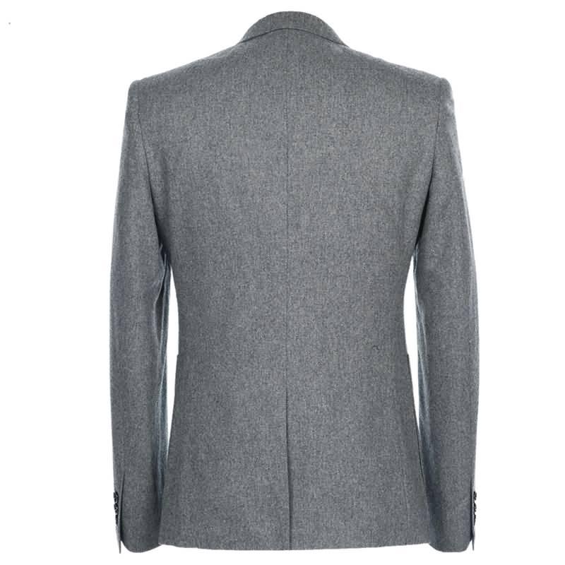 M-K高档羊毛经典两粒扣时尚绅士西服背面图片