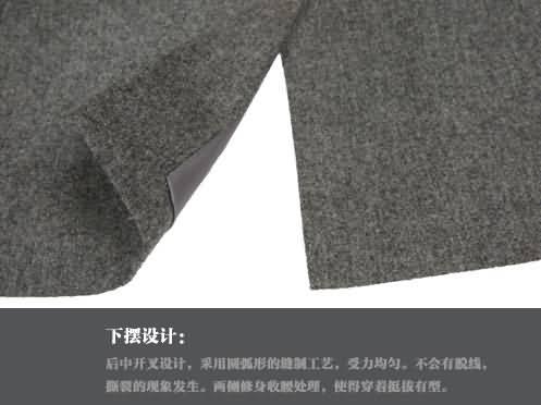 M-K高档羊毛经典两粒扣时尚绅士西服下摆细节