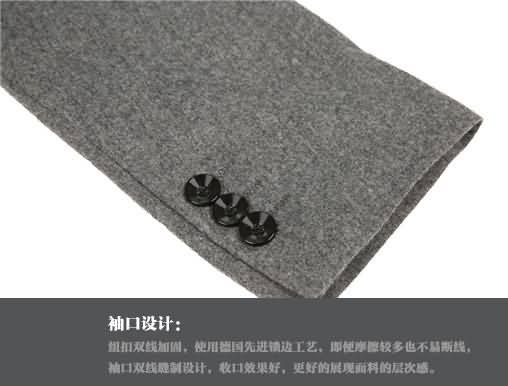 M-K高档羊毛经典两粒扣时尚绅士西服袖口细节