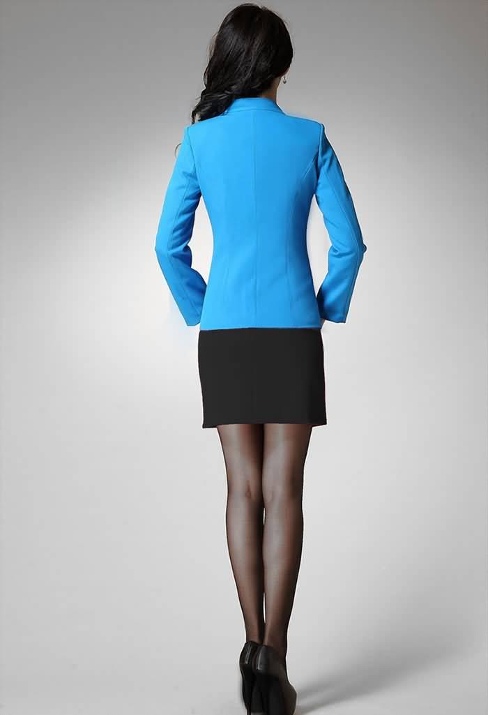 2015播音主持艺考服装上镜装女生小西服背面图片