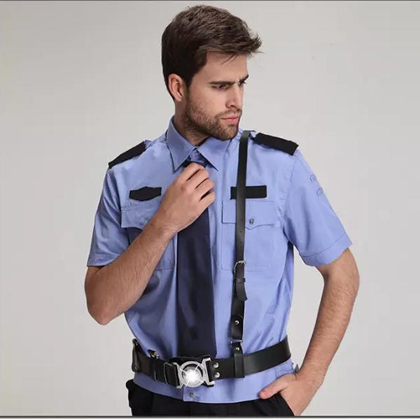 蓝色夏季保安服
